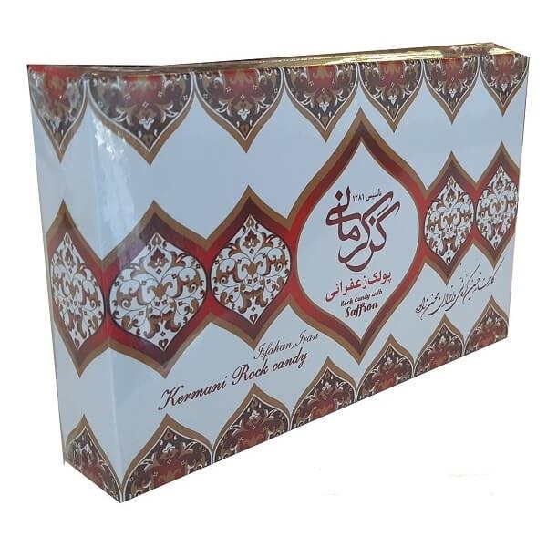 پولکی زعفرانی گز کرمانی - 450 گرم