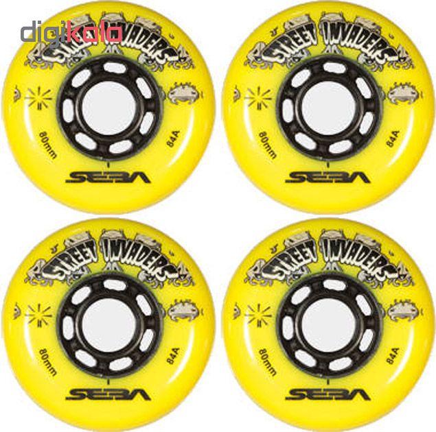 چرخ اسکیت سبا مدل STREET INVADERS 76MM بسته 4 عددی
