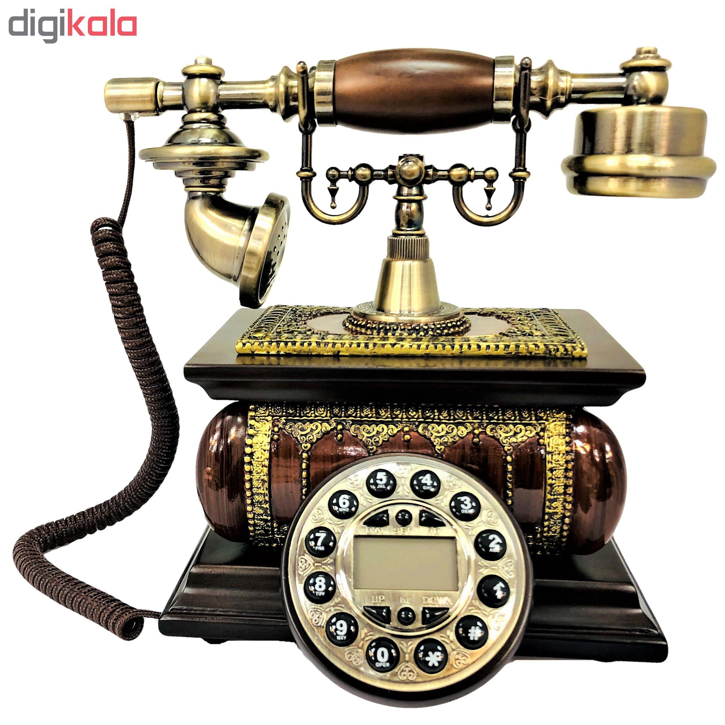 قیمت                      تلفن کلاسیک چوبی BHD مدل 5586