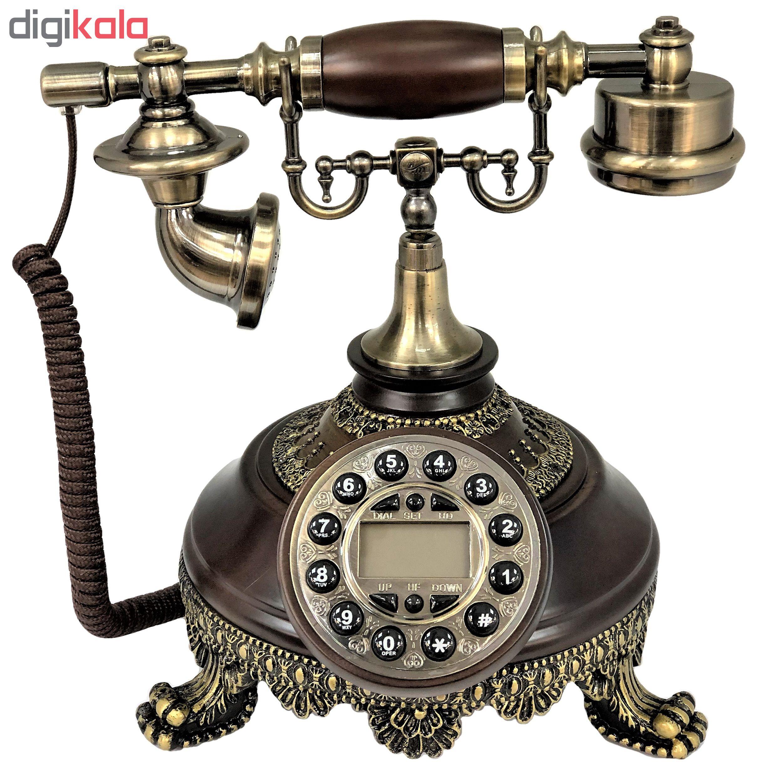 قیمت                      تلفن کلاسیک چوبی BHD مدل 5629