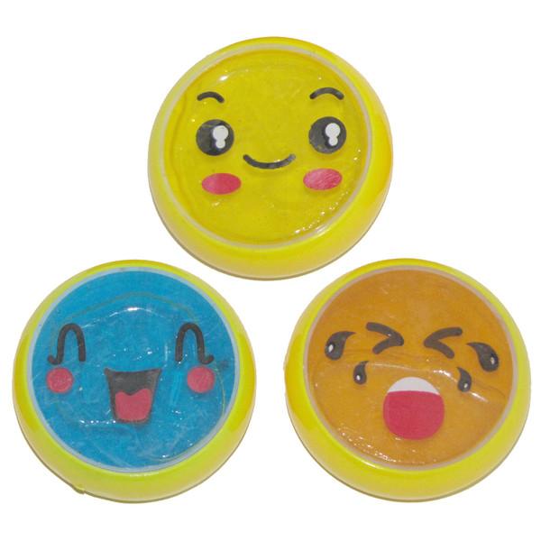 ژل بازی اسلایم مدل Emoji بسته 3 عددی