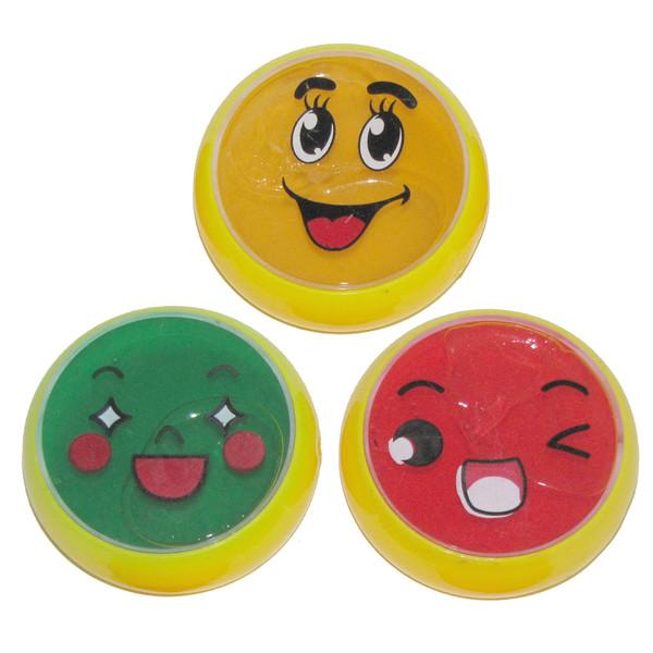 ژل بازی اسلایم مدل smile بسته 3 عددی