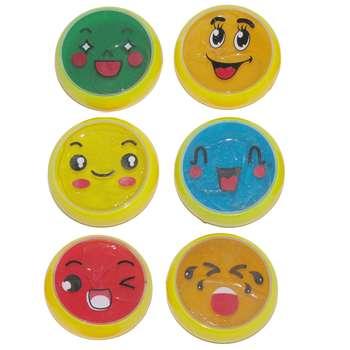 ژل بازی اسلایم مدل Emoji pack بسته 6 عددی  
