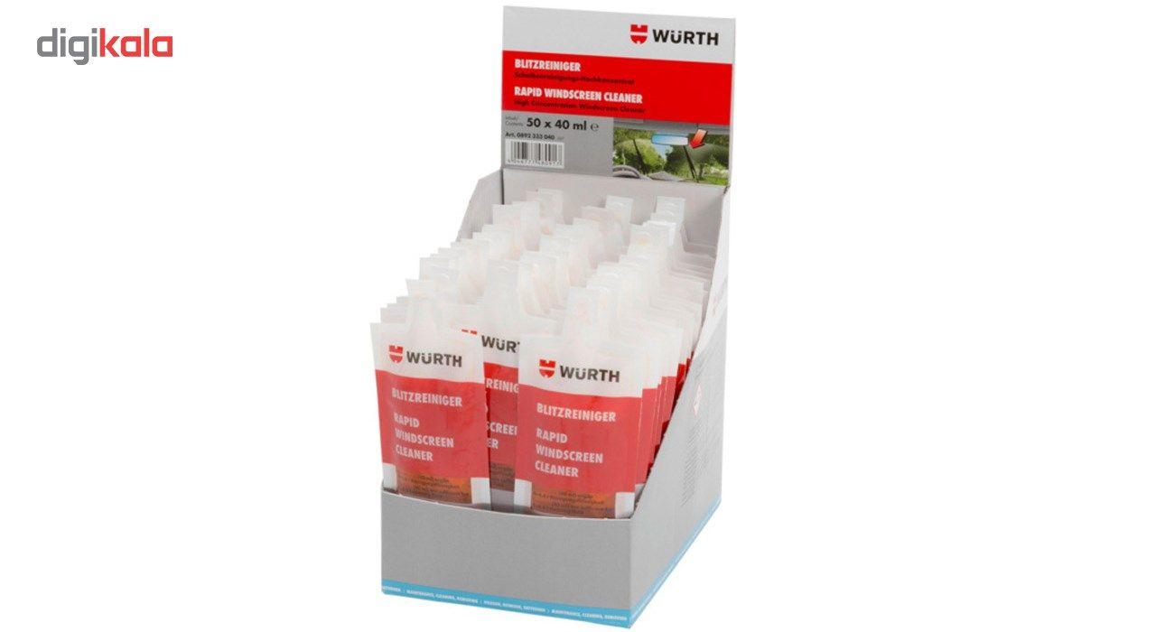 محلول شیشه شوی خودرو وورث مدل 892333040 حجم 40 میلی لیتر بسته 10 عددی main 1 2