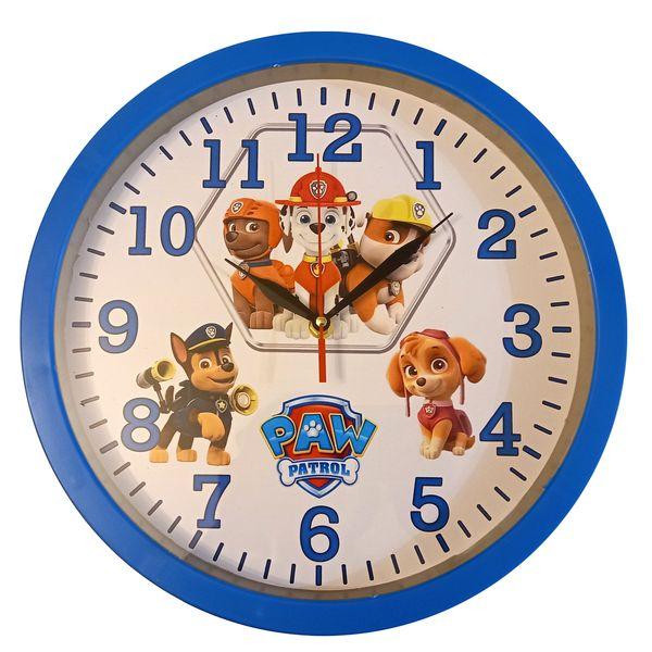 ساعت دیواری کودک مدل سگ نگهبان کد 124