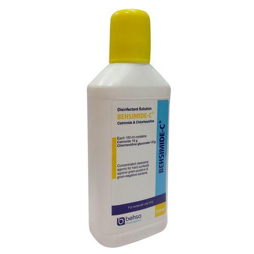 محلول ضد عفونی کننده سطوح بهسیمید- سی حجم 250 میلی لیتر