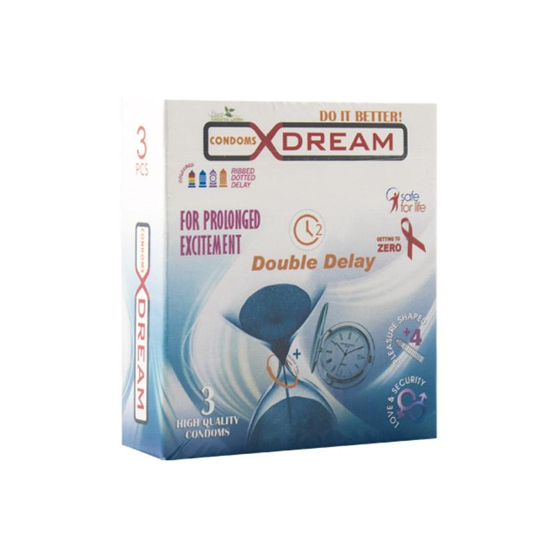 قیمت کاندوم ایکس دریم مدل double delay بسته 3 عددی