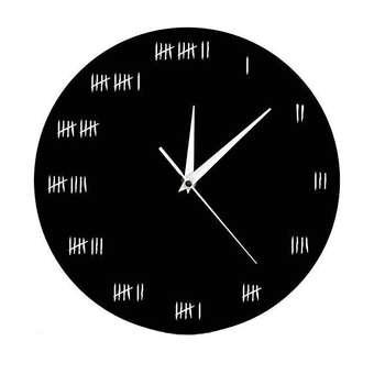 ساعت دیواری دکونوشاپ طرح چوب خط