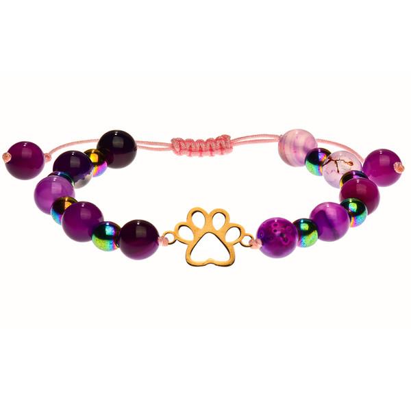 دستبند طلا 18 عیار دخترانه کرابو طرح پنجه ی سگ مدل Krd1039