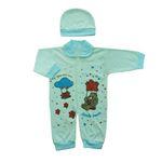 ست سرهمی و کلاه نوزادی مدل ستاره SG01