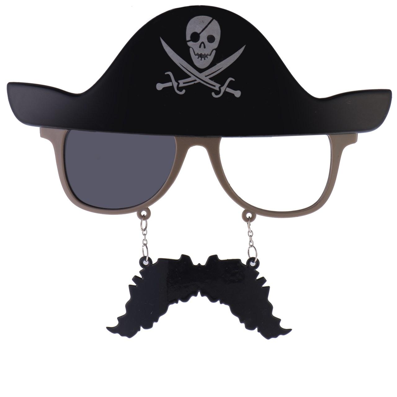 عکس عینک مهمانی طرح دزدان دریایی