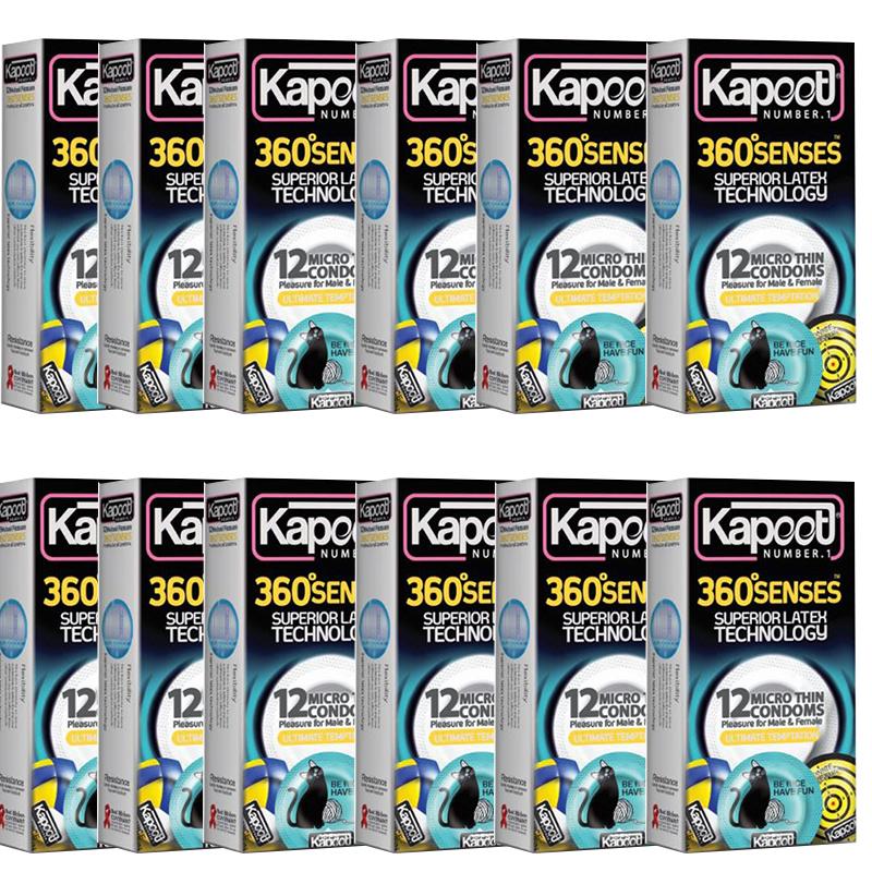 کاندوم کاپوت مدل Senses 360 بسته 12 عددی