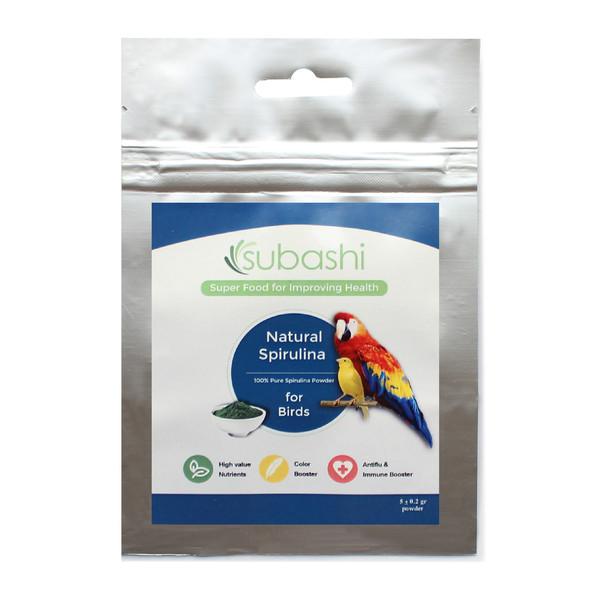 مکمل غذایی پرندگان سوباشی مدل Natural Spirulina  وزن 5 گرم
