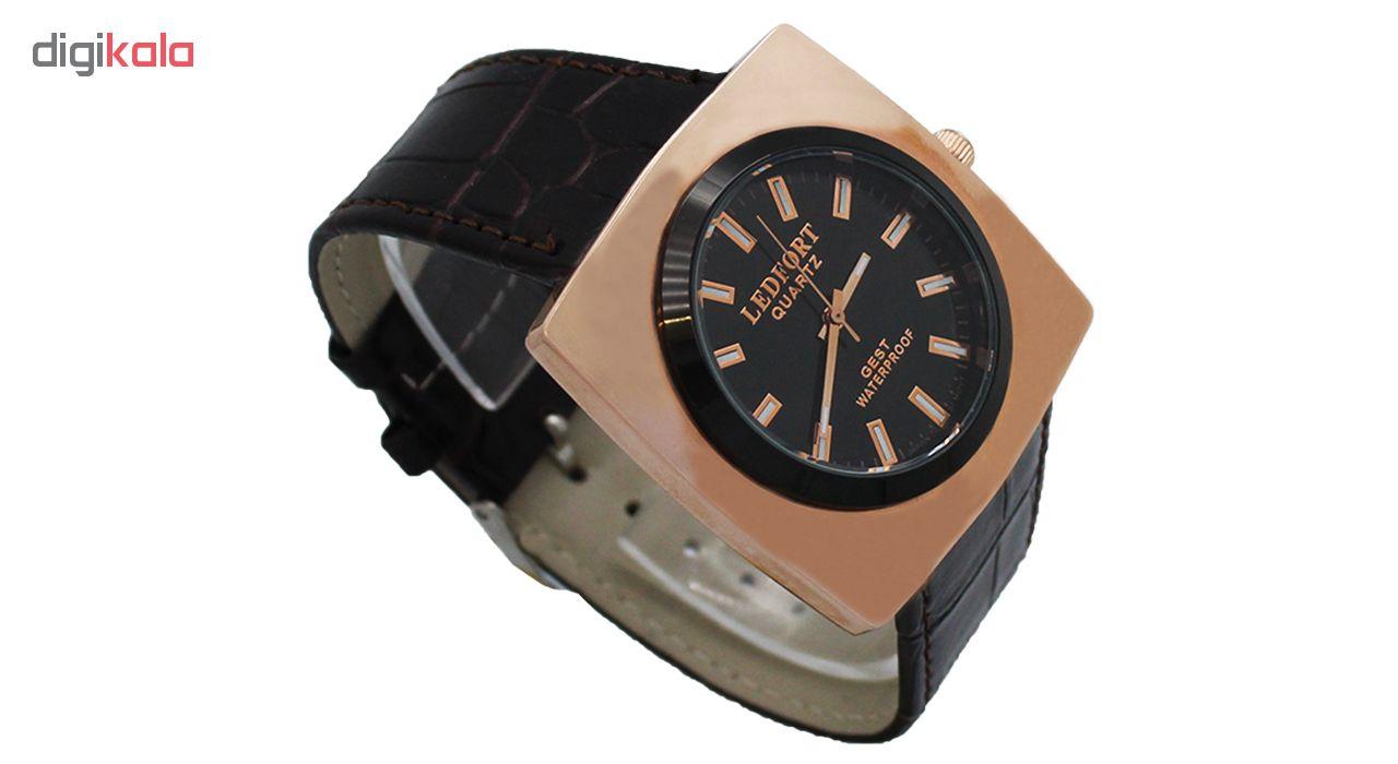 خرید ساعت مچی عقربه ای مردانه لدفورت مدل DGMU-0209