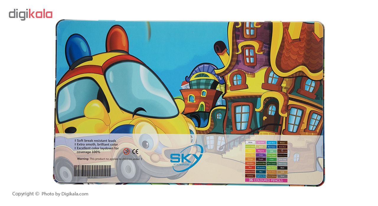 مداد رنگی 36 رنگ اسکای کد 101-1-36