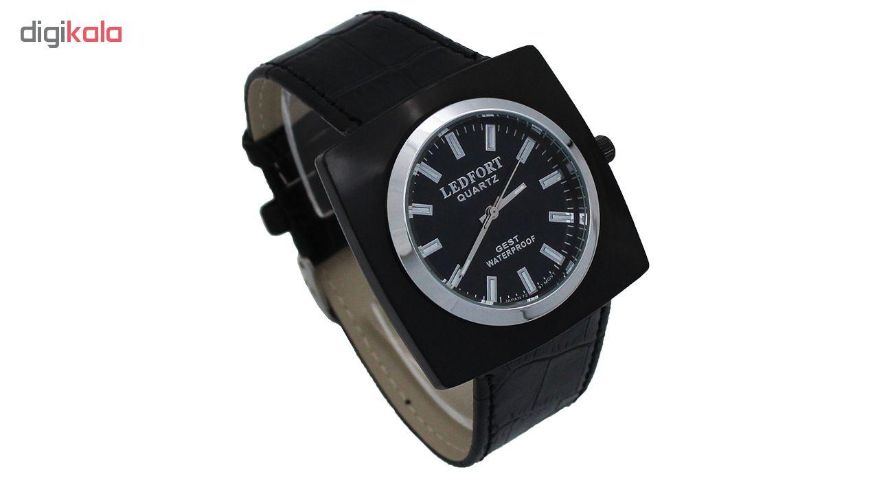 خرید ساعت مچی عقربه ای مردانه لدفورت مدل DGMU-0184