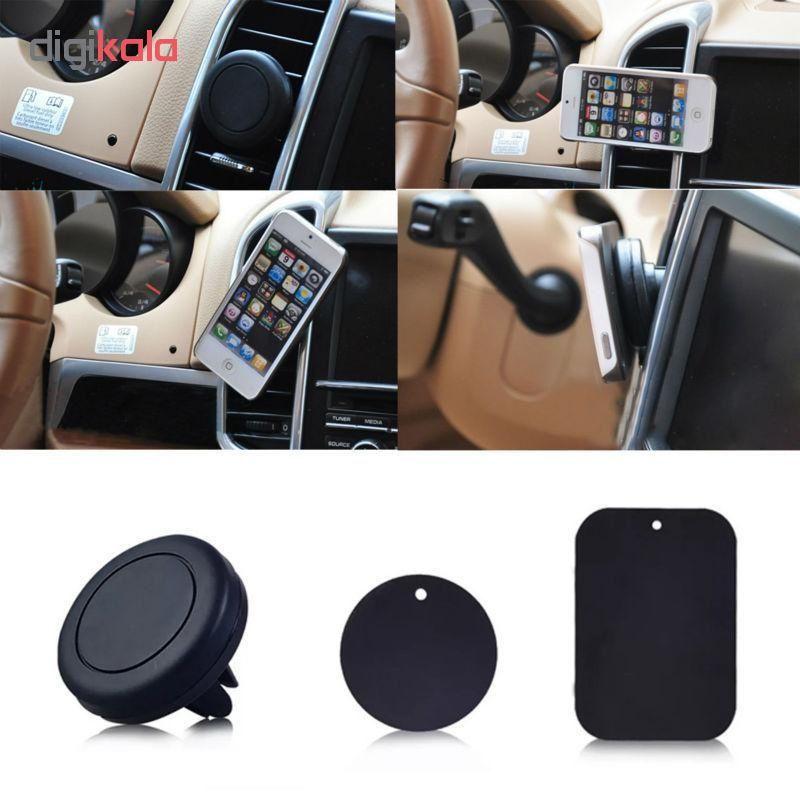 پایه نگه دارنده گوشی موبایل مدل Universal Magnetic Car Mount Code 3 main 1 1