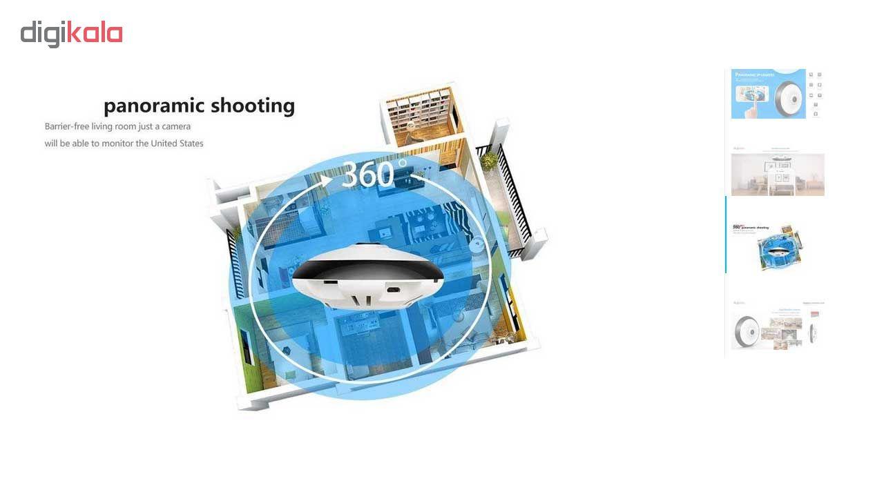 کوچکترین دوربین مداربسته تحت شبکه بیسیم پاناروما 360 درجه هگزا مدل H360VR