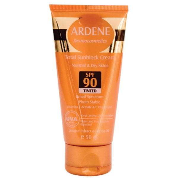 قیمت کرم ضد آفتاب رنگی آردن SPF90