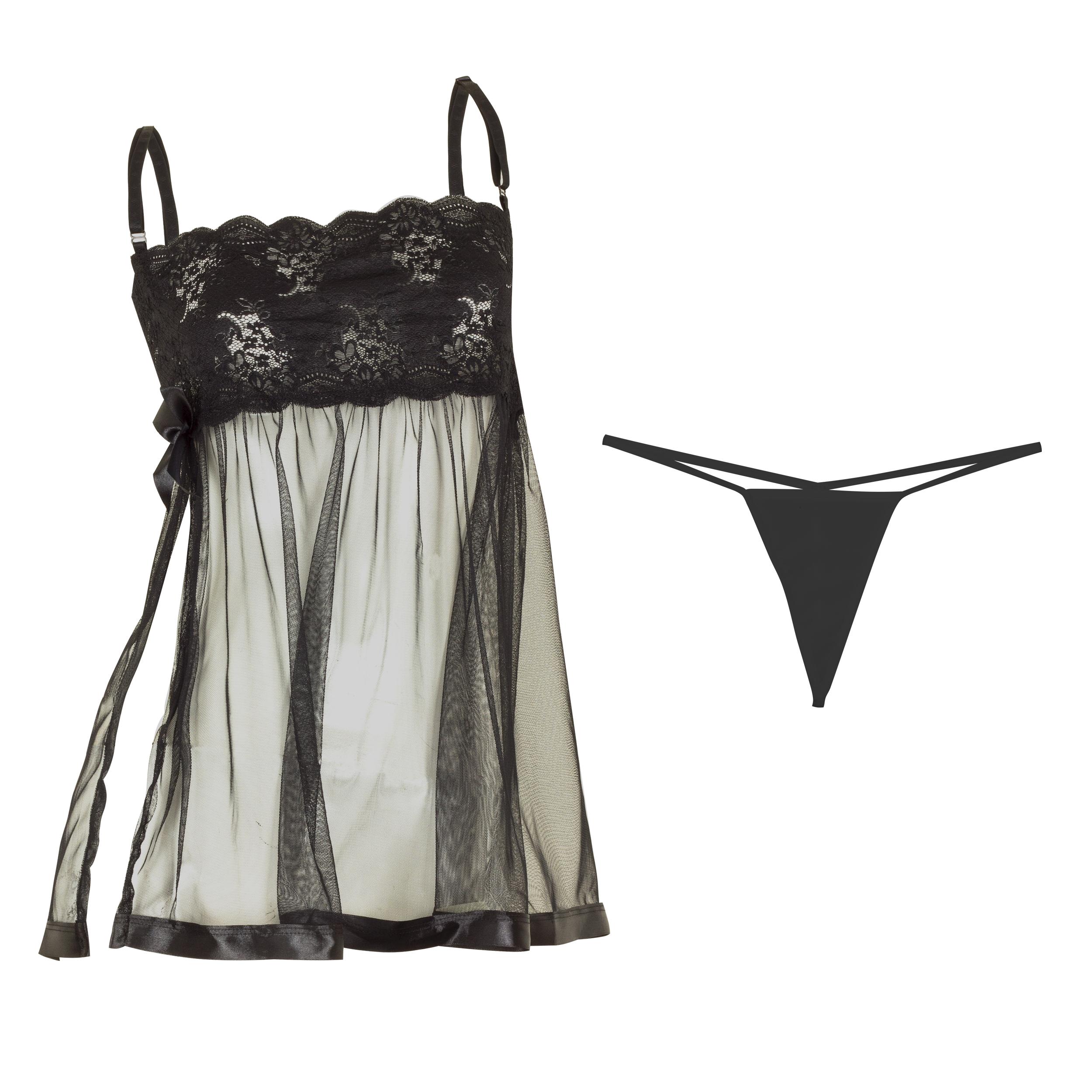 لباس خواب زنانه مدل Black-Prances