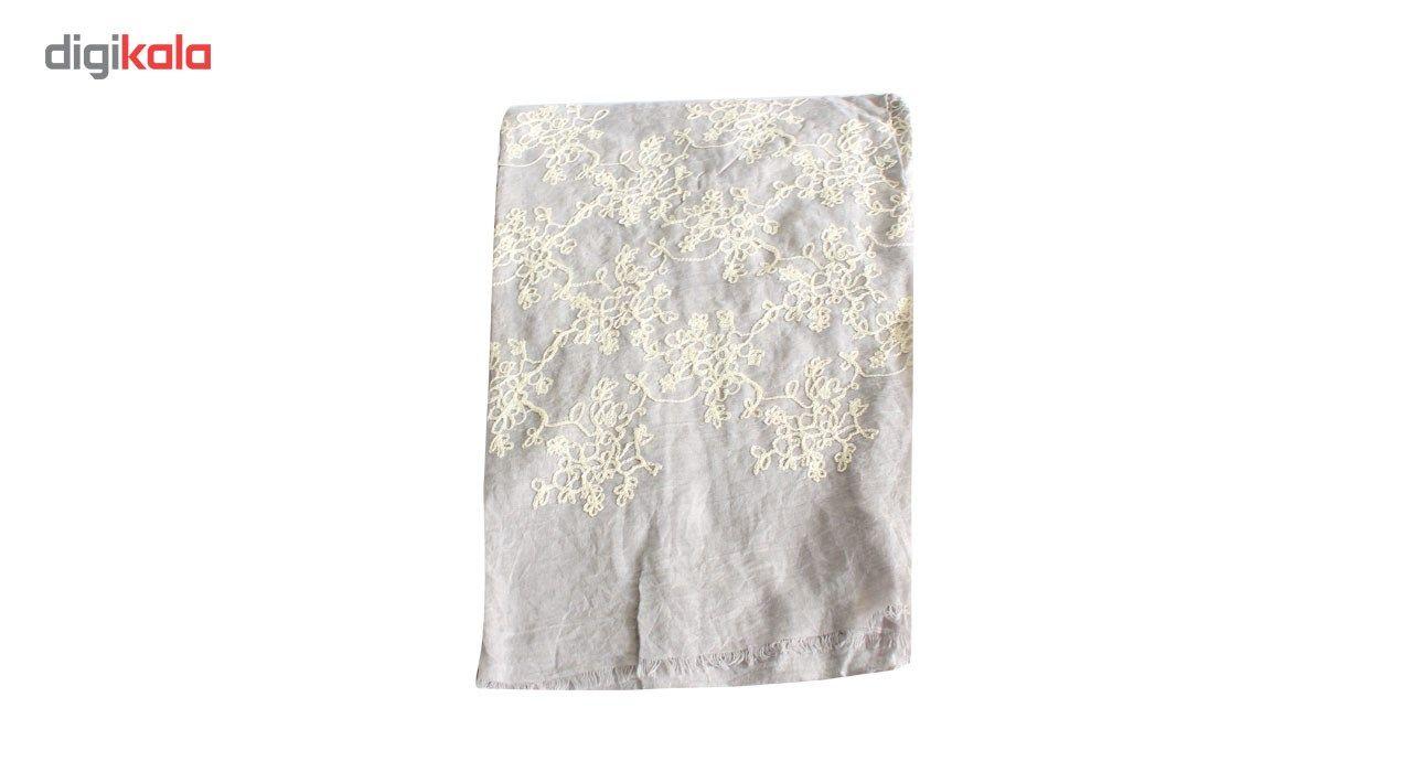شال سیگنورا مدل گل سفید main 1 5