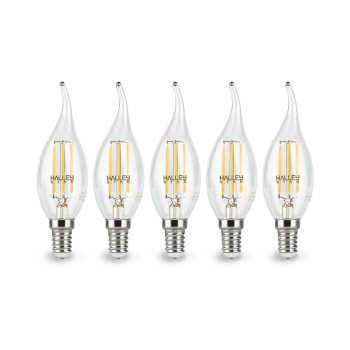 لامپ ال ای دی فیلامنتی 5 وات هالی استار مدل CA35T اشکی پایه E14 بسته 5 عددی |