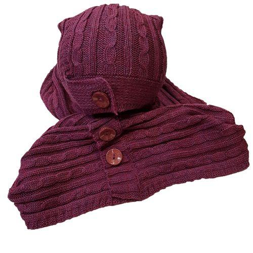 ست شال گردن و کلاه بافتنی کد ssk005