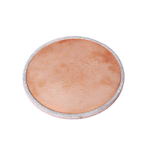 تخته سرو آرانیک گرد سنگی تزئین با مس رنگ خاکستری طرح ساده مدل 1009600007