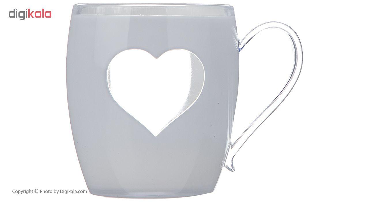 لیوان مدل Heart کد 010