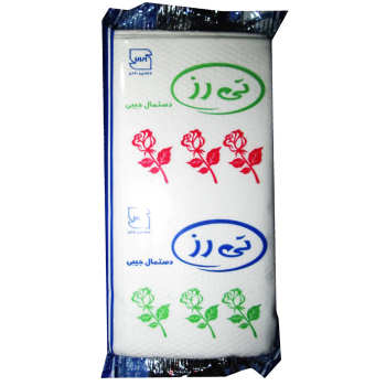 دستمال کاغذی جیبی تی رز مدل سپندگل بسته 6 عددی