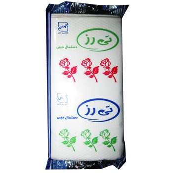 دستمال کاغذی جیبی تی رز مدل سپندگل بسته 24 عددی