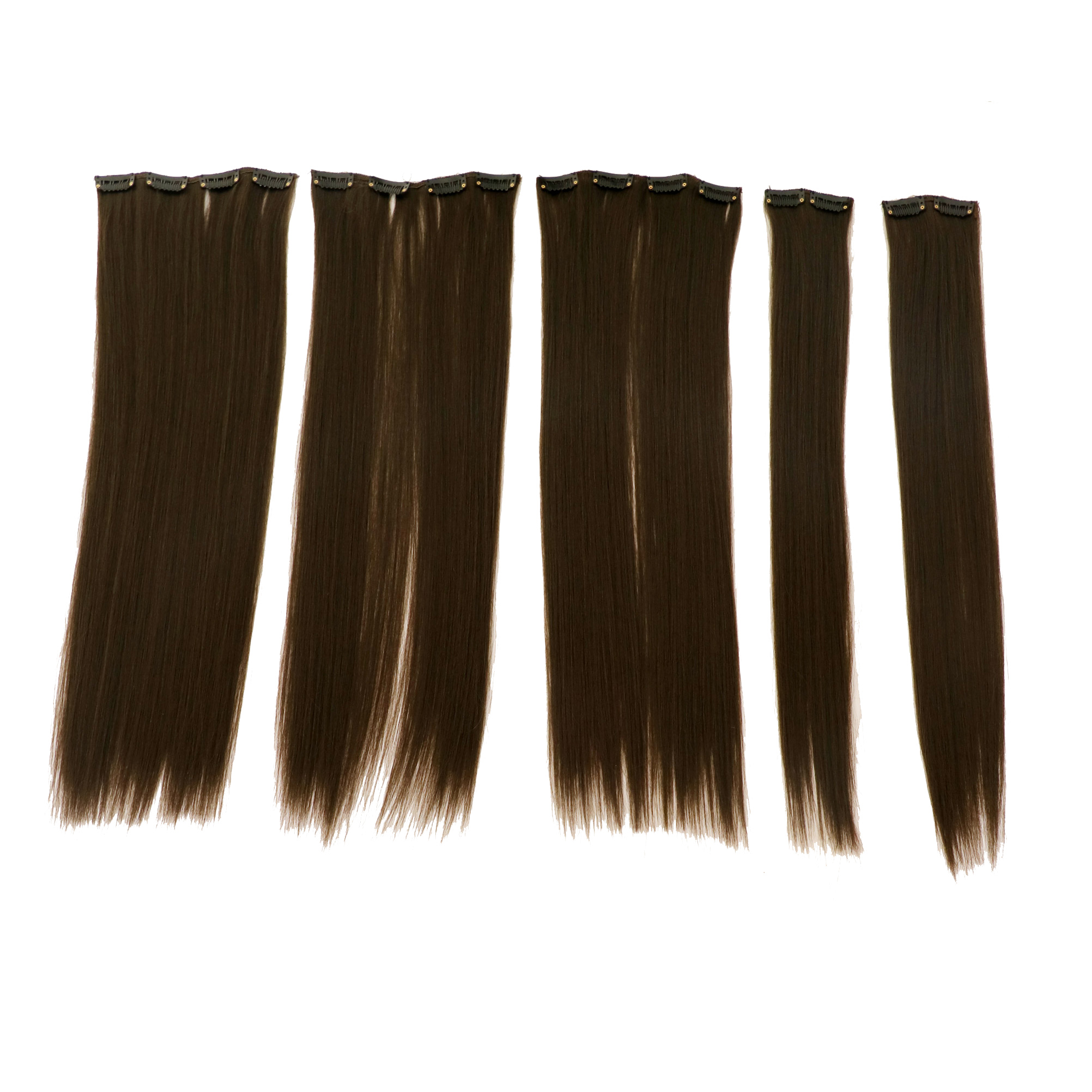 اکستنشن مو صاف اتو کشیده کد stw20c-4 رنگ موی طبیعی