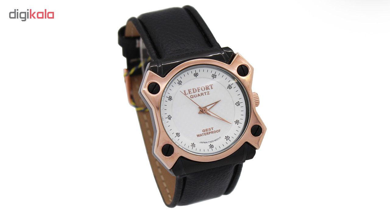 خرید ساعت مچی عقربه ای مردانه لدفورت مدل DGMU-0193