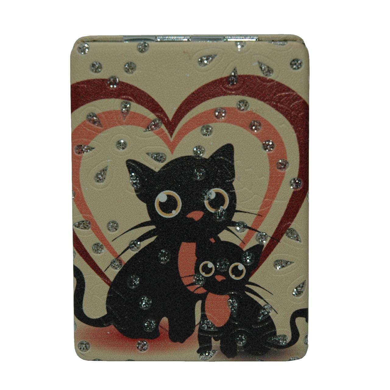 آینه جیبی طرح گربه مدل 10-233941