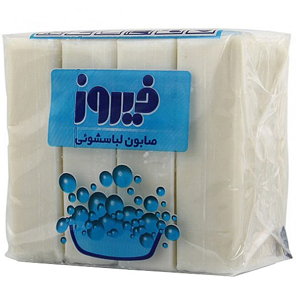 خرید صابون لباسشویی فیروز بسته 4 عددی