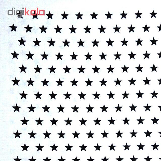 دستمال سر و گردن باندانا طرح ستاره سفید
