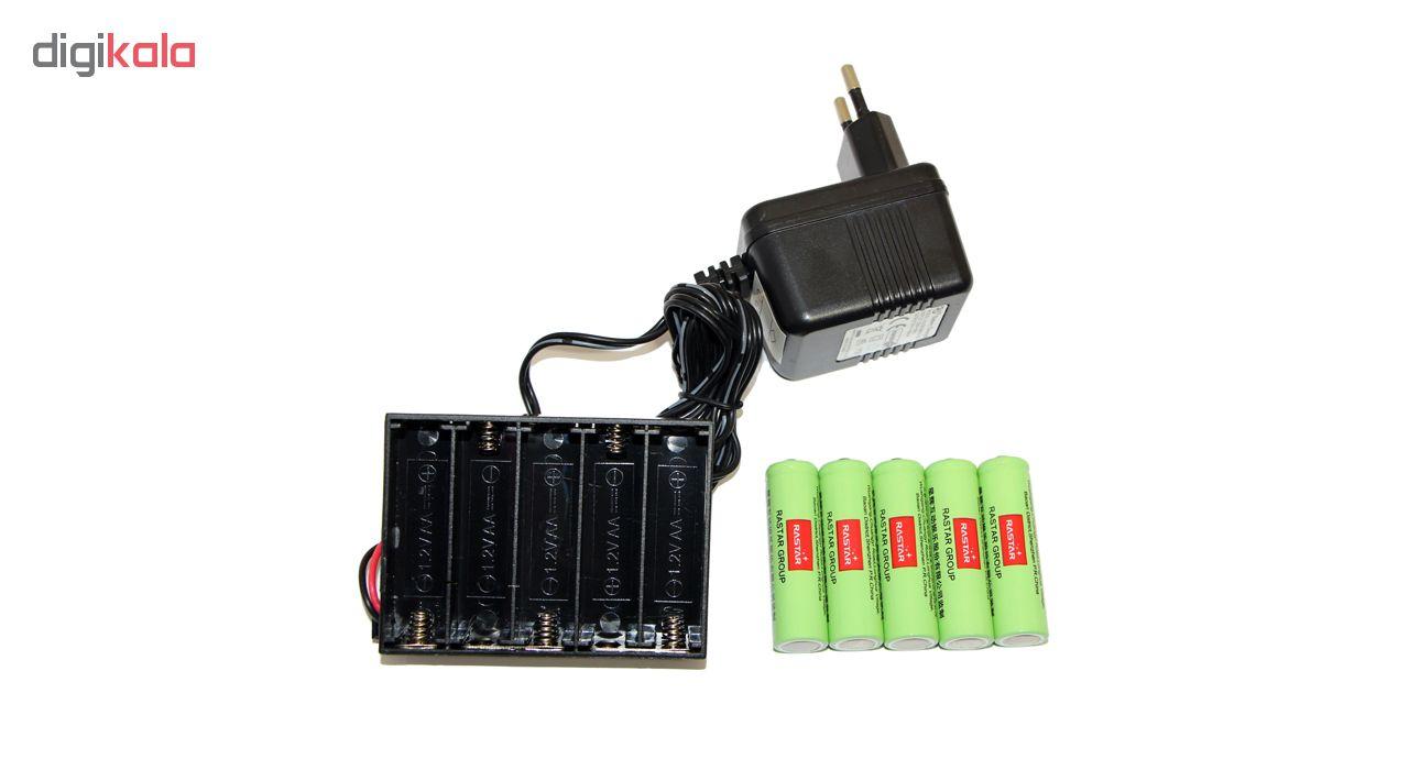 باتری قلمی رستار مدل RS-400mAh بسته 5 عددی به همراه شارژر باتری main 1 1