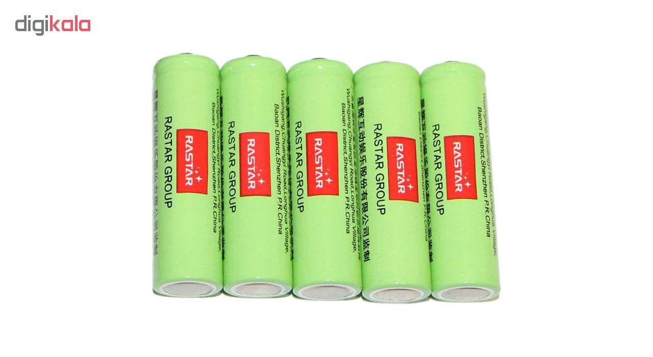 باتری قلمی رستار مدل RS-400mAh بسته 5 عددی به همراه شارژر باتری main 1 2