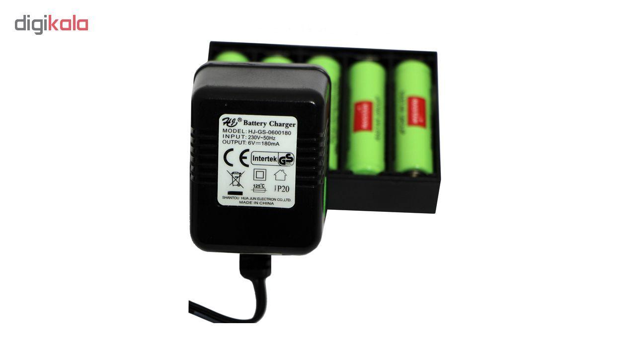 باتری قلمی رستار مدل RS-400mAh بسته 5 عددی به همراه شارژر باتری main 1 3
