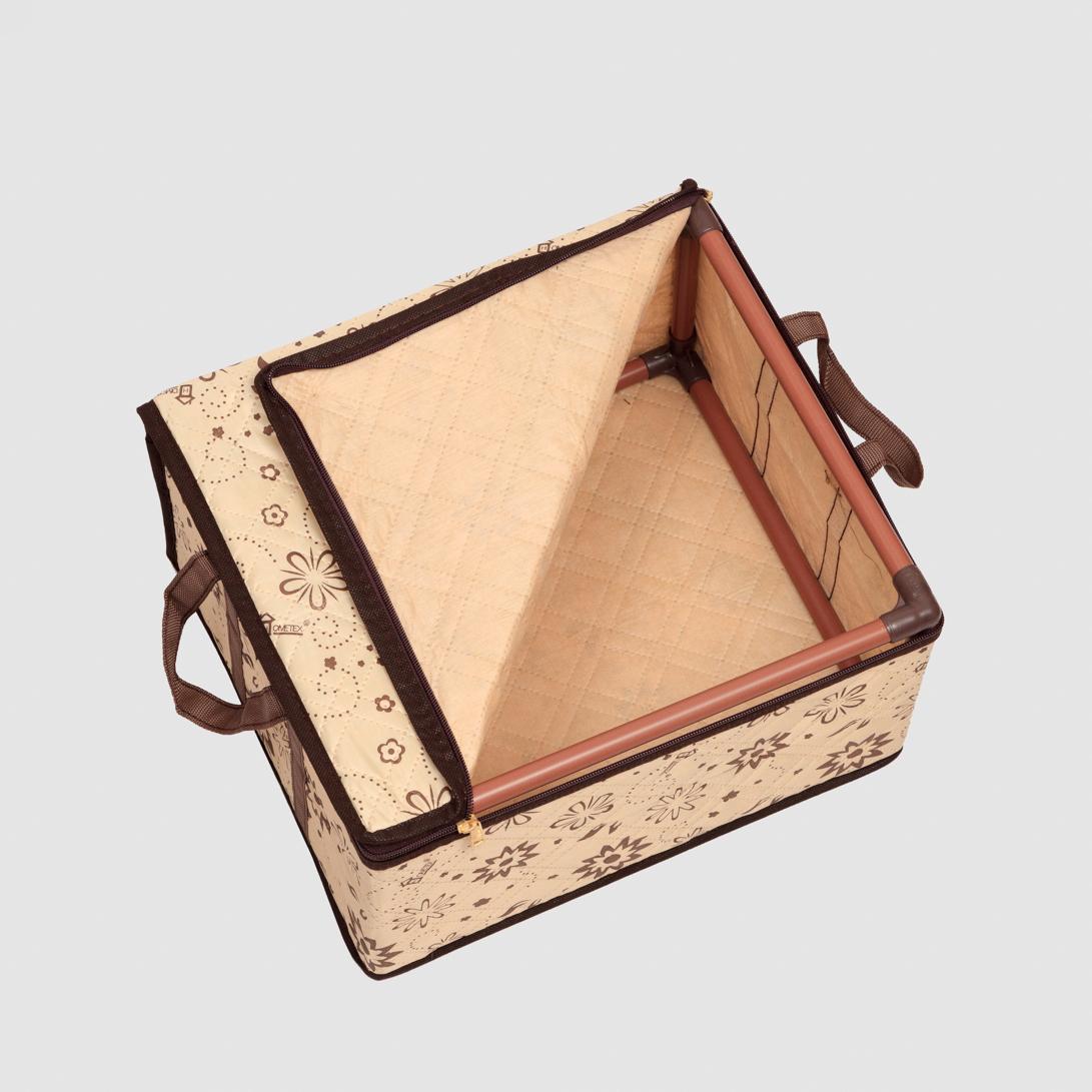 باکس جامه اسکلت دار هومتکس طرح شکوفه کد422 سایز نیم