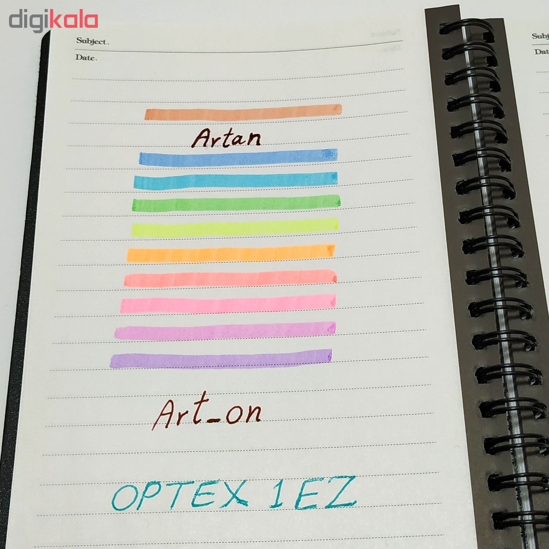 ماژیک علامت گذار 10 رنگ زبرا مدل OPTEX 1 EZ