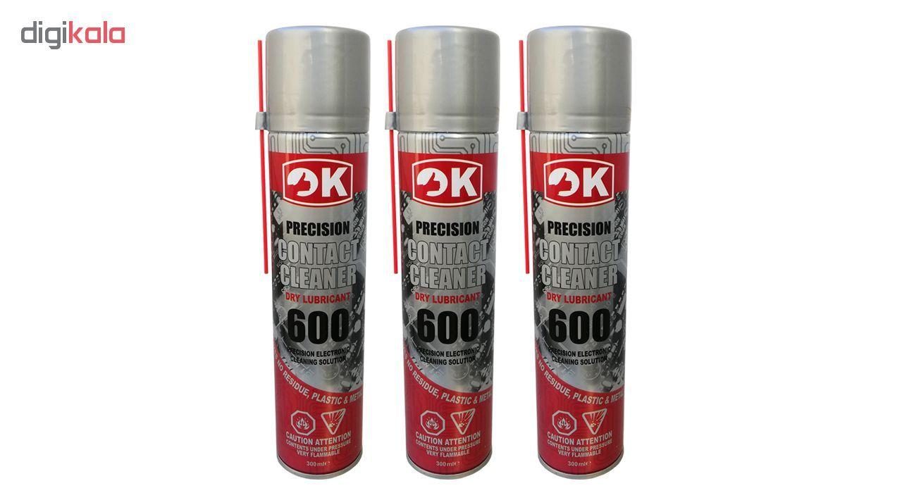 اسپری خشک اوکی مدل Contact Cleaner 600 بسته 3 عددی main 1 1