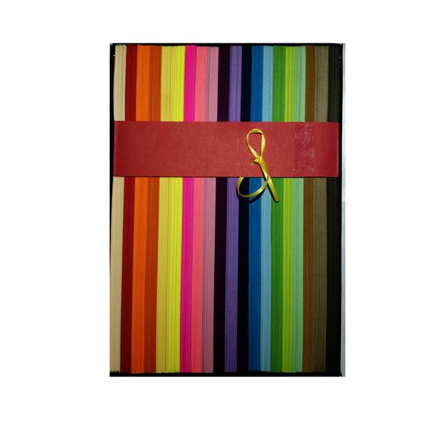 نوار ملیله کاغذی مدل Rainbow بسته 2000 عددی