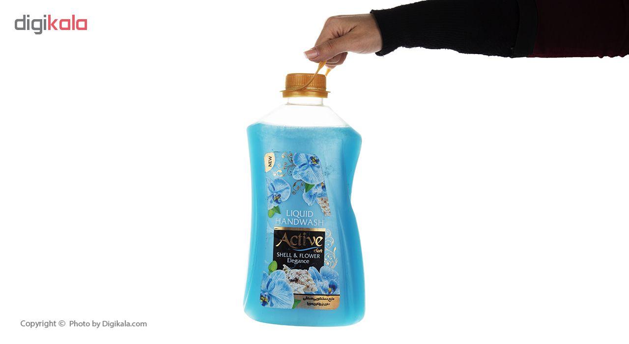 مایع دستشویی اکتیو مدل Shell & Flower مقدار 2500 گرم