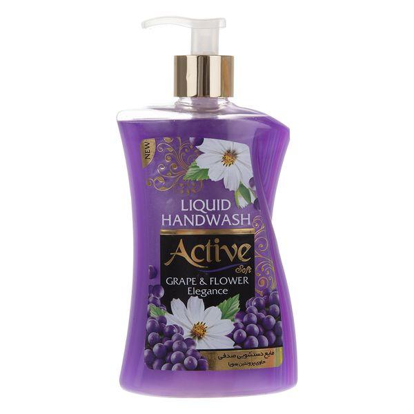 مایع دستشویی اکتیو مدل Grape & Flower مقدار 450 گرم