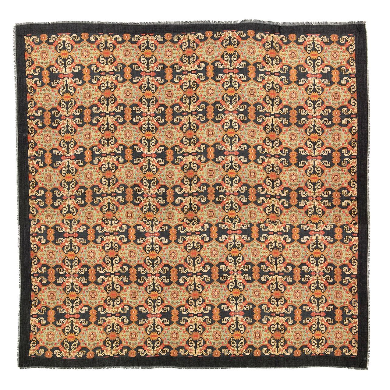 تصویر روسری زنانه طرح فرش کد 04