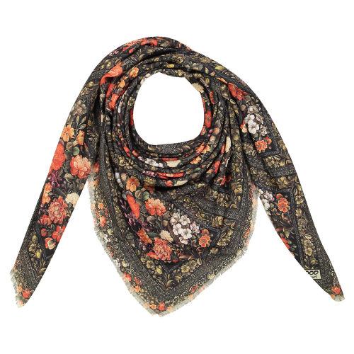 روسری زنانه طرح گل و مرغ کد 01