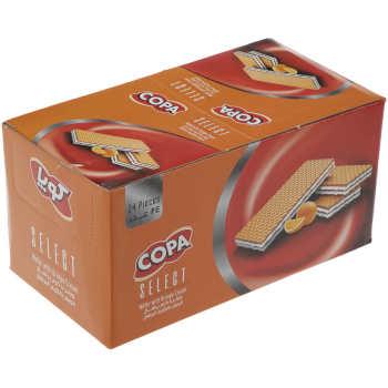 ویفر کوپا سلکت با کرم پرتقال مقدار 45 گرم بسته 24 عددی