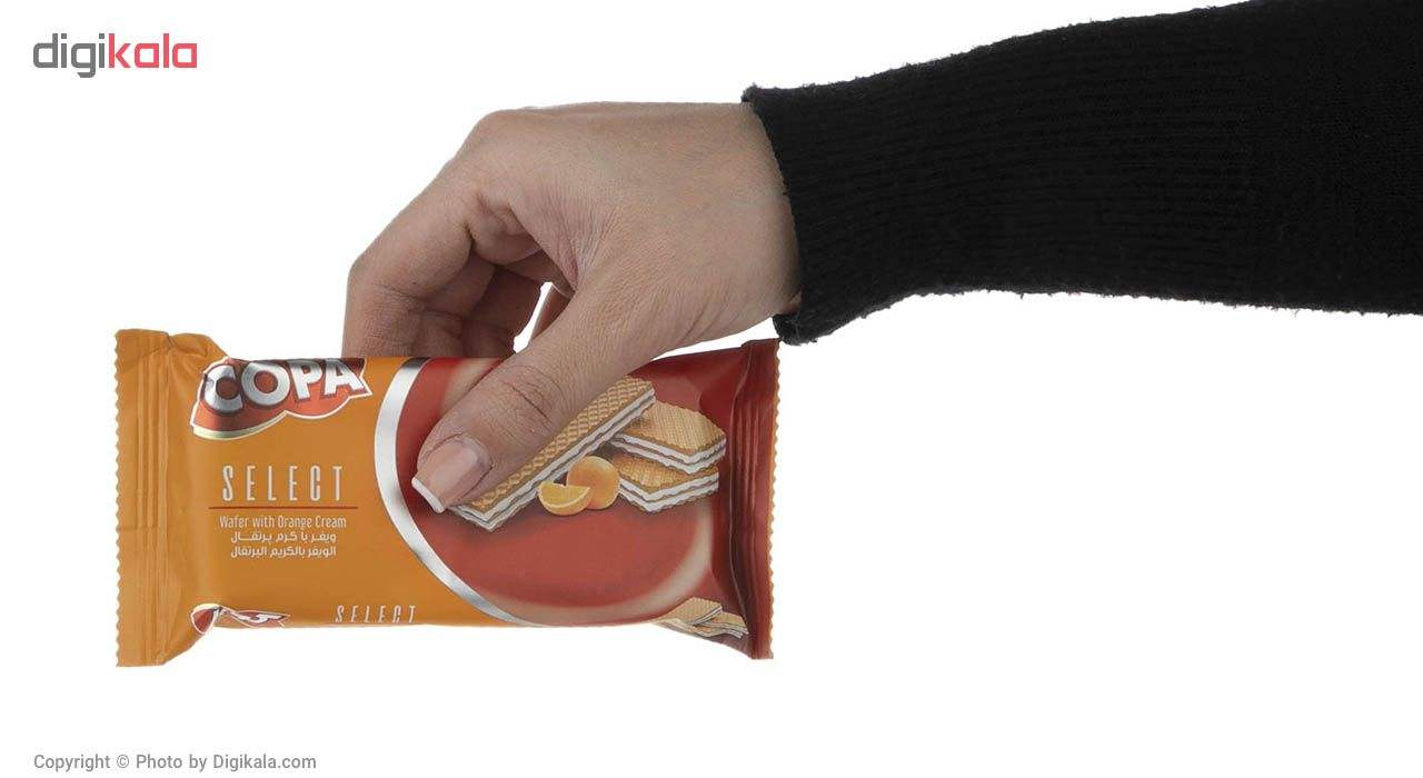 ویفر کوپا سلکت با کرم پرتقال مقدار 45 گرم بسته 24 عددی main 1 3