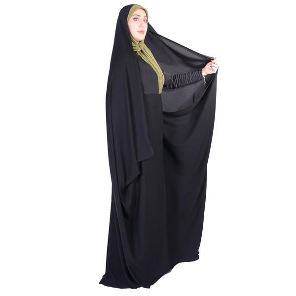 چادر کمری حسنا کرپ حریرالاسود شهر حجاب مدل 8053